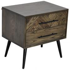 Dark Timber Toulouse Oak Wood Bedside Table