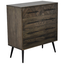 Dark Timber Toulouse Oak Wood Chest of Drawers