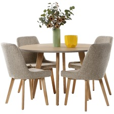 4 Seater Alexandria Dining Table & Chair Set