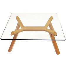 Finland Beech & Glass Coffee Table