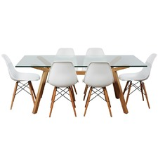 6 Seater Finland & Paris Dining Table & Chair Set