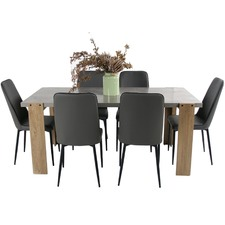 6 Seater Munich Dining Table & Chair Set