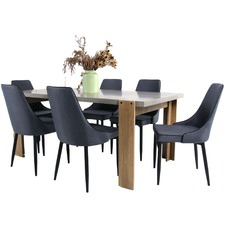 6 Seater Munich & Carina Dining Table & Chair Set