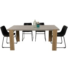 6 Seater Munich & Bristol Dining Table & Chair Set