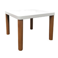 White & Natural Arina Wooden  Side Table