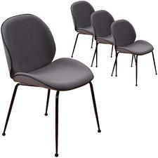 Grey Vasily Velvet Dining Chairs (Set of 4)