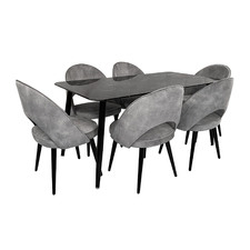 6 Seater Krissa Dining Table & Chair Set