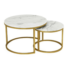2 Piece Smith Marble Nesting Coffee Table Set