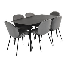 6 Seater Gabby Dining Table & Chair Set