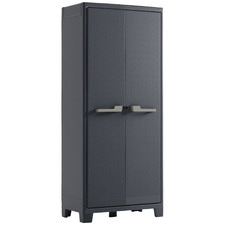 Charcoal Moby Alto Outdoor Storage Cabinet