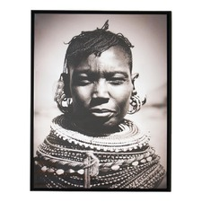 African Woman Necklaces Glossy Canvas