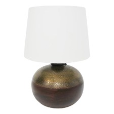 Mukta Wooden Based Table Lamp with White Shade