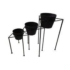 Avery Planters in Stand (Set of 3)