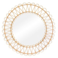 Natural Sun Round Rattan Mirror