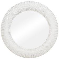 Seni Round Rattan Mirror