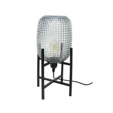Tham Dark Grey Glass Table Lamp