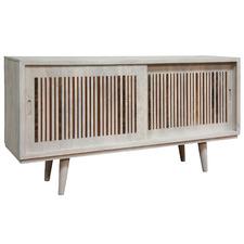 White Wash Bohème Wooden Sideboard