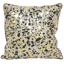 Gold Leopard Print Cotton Cushion