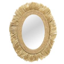 Natural Heiku Jute Wall Mirror