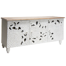 White Wash Fleur Sideboard