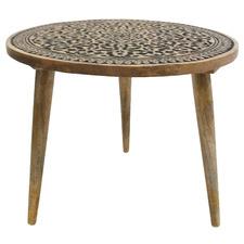 Black & Natural Zoki Mango Wood Side Table