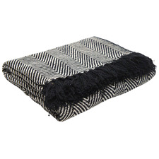Black Albie Cotton Throw