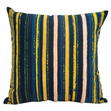Emerald Stripes Cotton Cushion