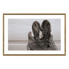 Beachy Besties Framed Printed Wall Art