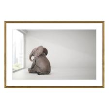 Elephant Day Dreams Framed Printed Wall Art