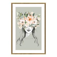 Flower Girl 1 Framed Wall Art