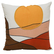 Sunsets Embroidered 50cm Cotton Cushion