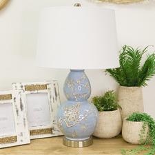 Cherry Blossom Porcelain Table Lamp