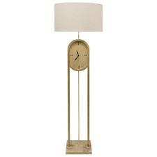 Callie Floor Lamp with Clock