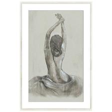 Stretching Lady Framed Printed Wall Art