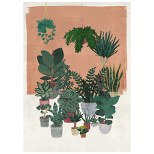Potted Lushness Stretched Canvas Wall Art