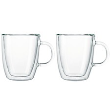 Bistro Double Wall 300ml Espresso Mugs (Set of 2)