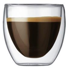 Bodum Pavina 80ml Double Wall Espresso Glasses (Set of 2)