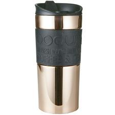 Bodum Rose Gold Stainless Steel Travel Mug 350ml