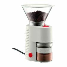 White Bistro Electric Burr Coffee Grinder