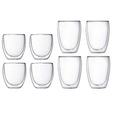 8 Piece Pavina Double Wall Coffee Glasses Set
