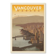 Vancouver Skyline Printed Wall Art