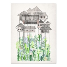 Cambodian Stilts Printed Wall Art