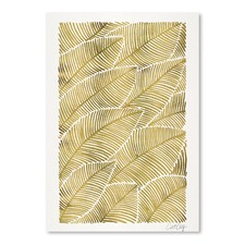 Tropical Gold Printed Wall Art