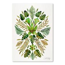 Green Tropical Symmetry Printed Wall Art