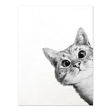 Sneaky Cat Printed Wall Art
