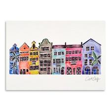 Rainbow Row Printed Wall Art