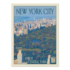 New York Enjoy Central Park Printed Wall Art
