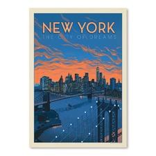 New York City of Dreams Printed Wall Art