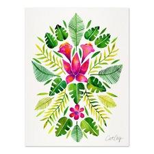 Pink & Green Tropical Symmetry Printed Wall Art