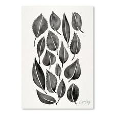 Black Fall Leaves Printed Wall Art